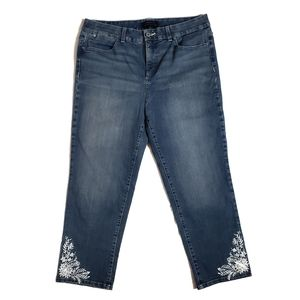 Talbots | Embroidered capris